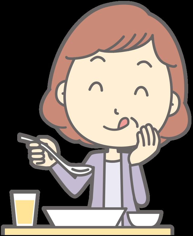 食事をする女性のイメージ画像